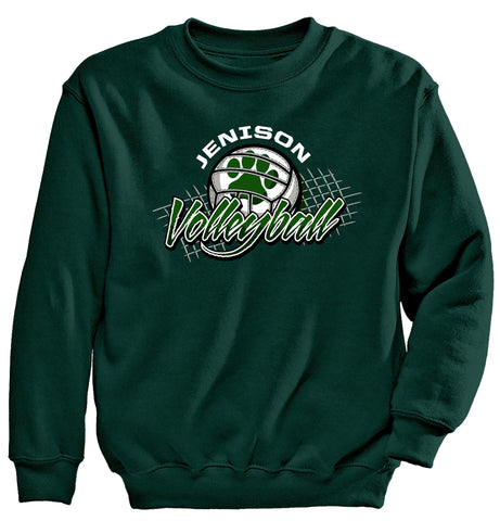 "Jenison - Crewneck Sweatshirt - Volleyball Net ""Paw"""