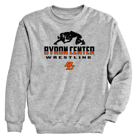Byron Center - Crewneck Sweatshirt - Wrestling