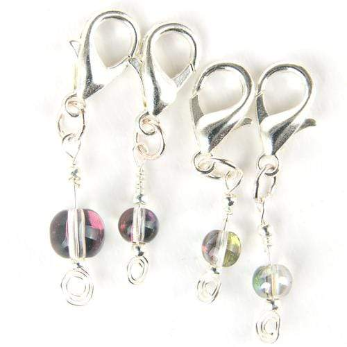 Kuszty Accessories Crochet Kuszty Stitch Marker - Clear Rainbow Smooth Round Crystal