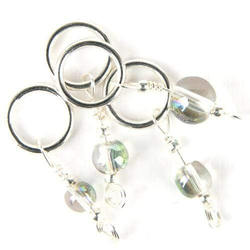 Kuszty Accessories Knitting Kuszty Stitch Marker - Clear Rainbow Smooth Round Crystal
