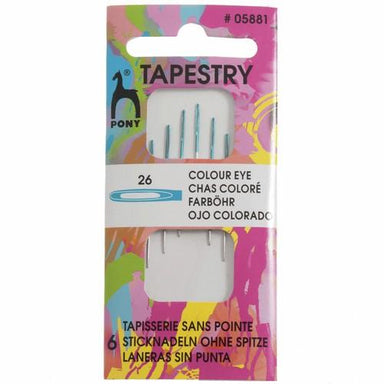 Pony Accessories Pony Tapestry Needles with Colour-Coded Eyes (Size 26) 8901003058819