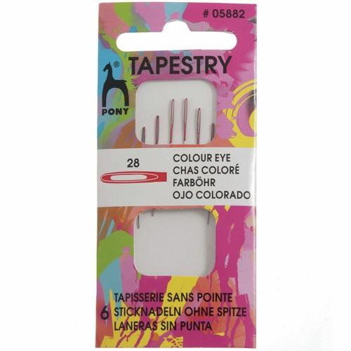 Pony Accessories Pony Tapestry Needles with Colour-Coded Eyes (Size 28) 8901003058826