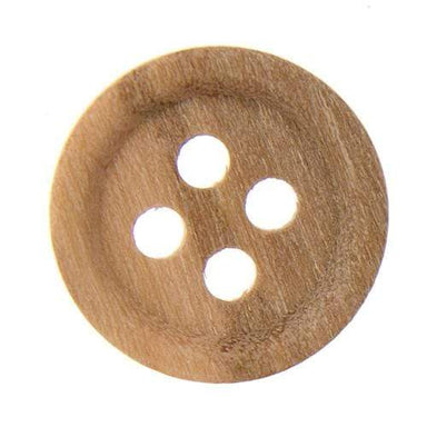 Italian Buttons Buttons 11mm Italian Buttons Small Olive Wood 4-hole Button (Natural) 64171426