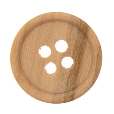 Italian Buttons Buttons 15mm Italian Buttons Small Olive Wood 4-hole Button (Natural) 64204194