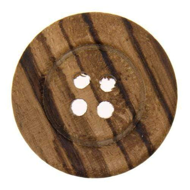 Italian Buttons Buttons 23mm Italian Buttons Striped 4-hole Wooden Button (Natural) 59493538