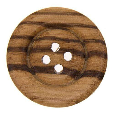 Italian Buttons Buttons 28mm Italian Buttons Striped 4-hole Wooden Button (Natural) 59526306