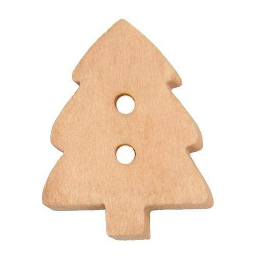 Sconch Buttons Wooden Christmas Tree Button