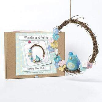 Woollie and Feltie Felting Woollie and Feltie Spring Wreath Needle Felting Kit