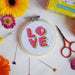 The Make Arcade Needlecraft The Make Arcade 'LOVE' Mini Cross Stitch Kit