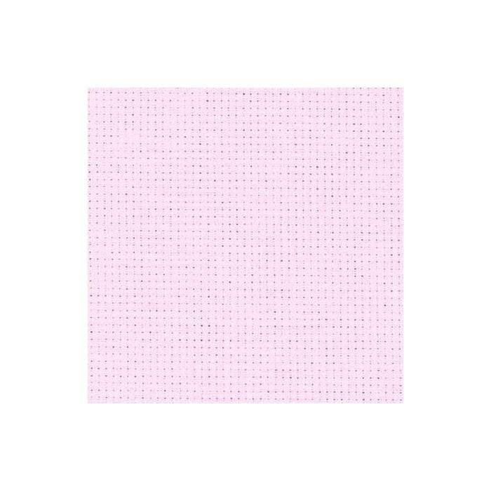 Zweigart Needlecraft Baby Pink (4110) Zweigart Aida (14 Count) Fat Quarter