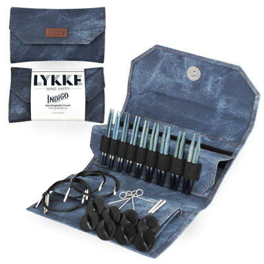 "Lykke Needles Lykke 3.5"" Interchangeable Knitting Needle Set - Indigo"