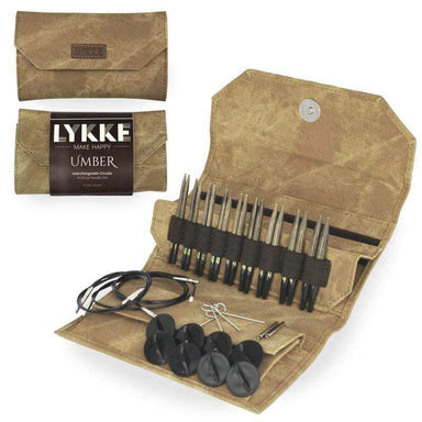 "Lykke Needles Lykke 3.5"" Interchangeable Knitting Needle Set - Umber"