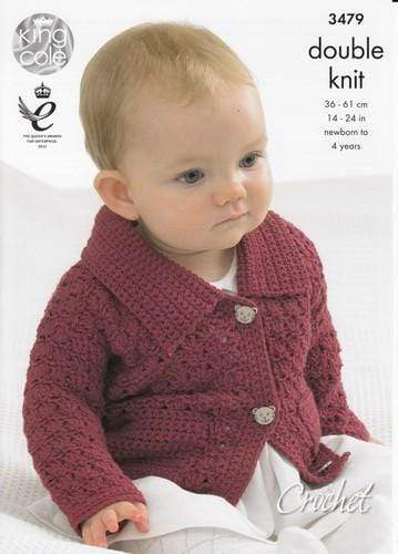 King Cole Patterns King Cole DK - Collared Cardigan, Sweaters with Long and Short Sleeves and Waistcoat (3479)