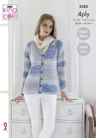 King Cole Patterns King Cole Drifter 4 Ply - Cardigan & Sweater (5383) 5057886007468