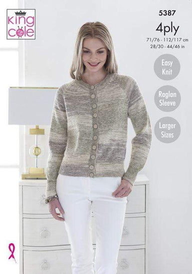 King Cole Patterns King Cole Drifter 4 Ply - Cardigan & Sweater (5387) 5057886007505