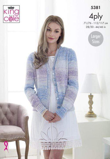 King Cole Patterns King Cole Drifter 4 Ply - Waistcoat & Cardigan (5381) 5057886007444