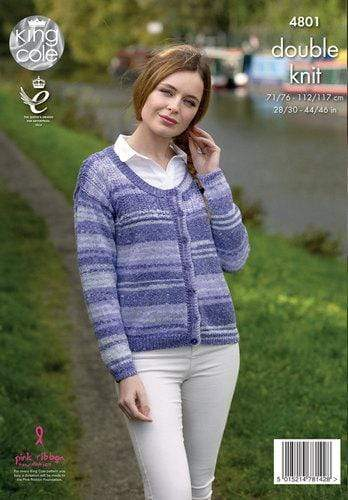 King Cole Patterns King Cole Drifter DK - Sweater and Cardigan (4801) 5015214781428