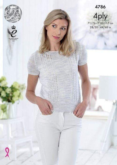 King Cole Patterns King Cole Giza Cotton 4 Ply - Tops (4786) 5015214781268