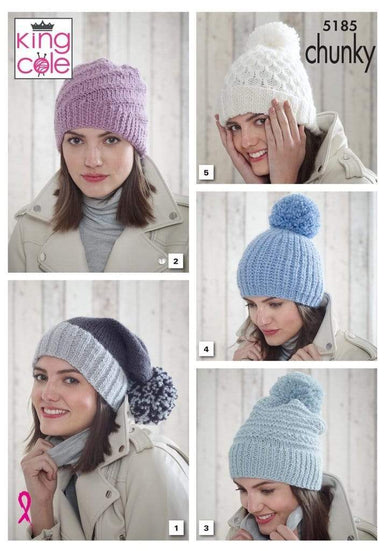 King Cole Patterns King Cole Timeless Chunky - Hats (5185) 5015214917544