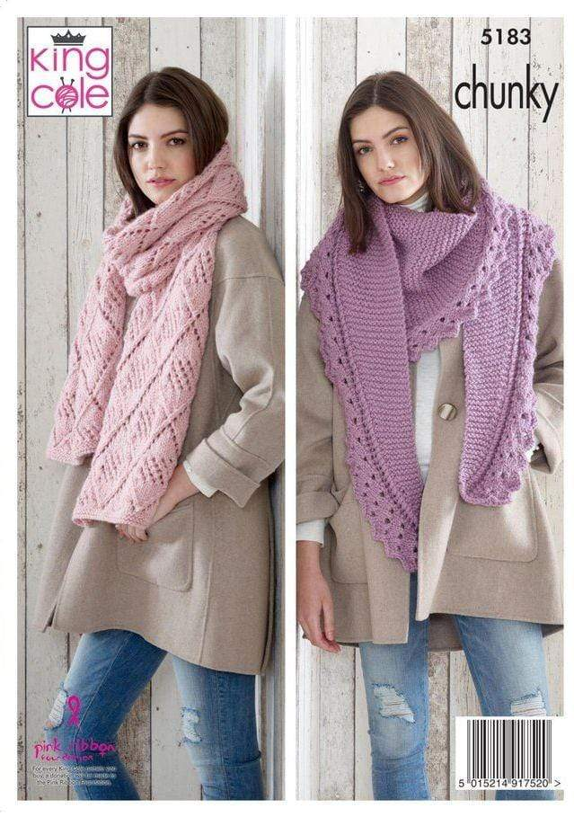 King Cole Patterns King Cole Timeless Chunky - Shawls (5183) 5015214917520