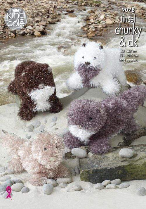 King Cole Patterns King Cole Tinsel Chunky - Otters (9078) 5015214989190