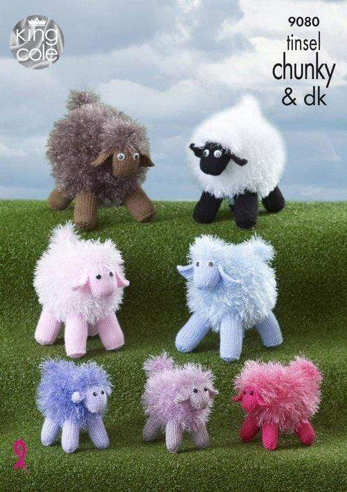 King Cole Patterns King Cole Tinsel Chunky - Sheep (9080) 5015214897501