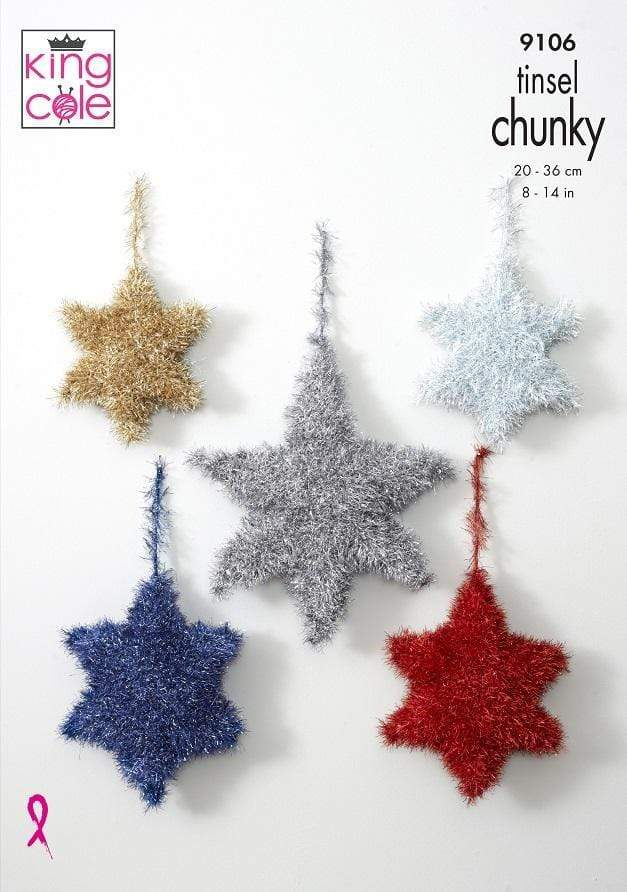 King Cole Patterns King Cole Tinsel Chunky - Tinsel Stars (9106) 5057886004825