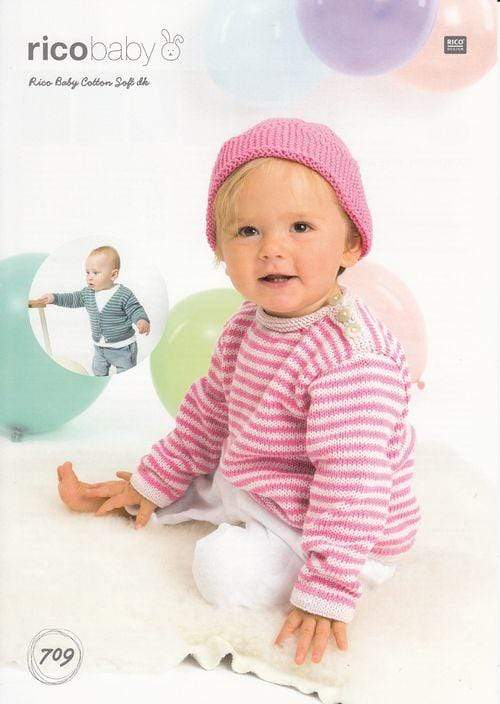 Rico Design Patterns Rico Design Baby Cotton Soft DK - Cardigan, Sweater and Hat (709) 4050051562992