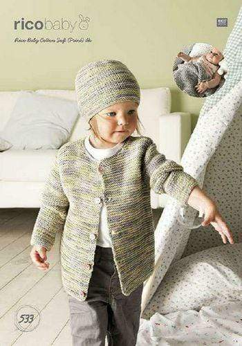 Rico Design Patterns Rico Design Baby Cotton Soft DK - Jacket, Hat and Blanket (533) 4050051550883