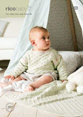 Rico Design Patterns Rico Design Baby Cotton Soft DK - Jumper and Blanket (527) 4050051550821