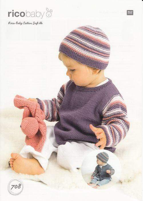 Rico Design Patterns Rico Design Baby Cotton Soft DK - Sweater, Cardigan and Hat (708) 4050051562985