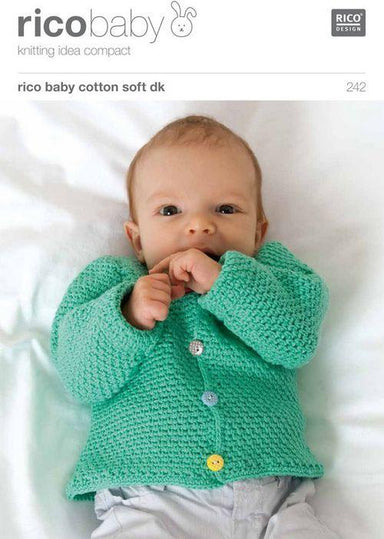 Rico Design Patterns Rico Design Baby Cotton Soft DK - Waistcoat and Cardigan in Tweed Pattern (242) 4050051528547