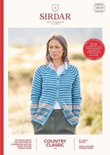 Sirdar Patterns Sirdar Country Classic 4 Ply - Cardigan (10129) 5024723101290