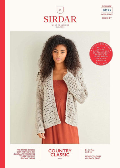 Sirdar Patterns Sirdar Country Classic 4 Ply - Cardigan (10245) 5024723102457