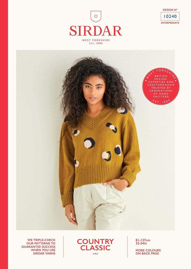 Sirdar Patterns Sirdar Country Classic 4 Ply - Sweater (10240) 5024723102402