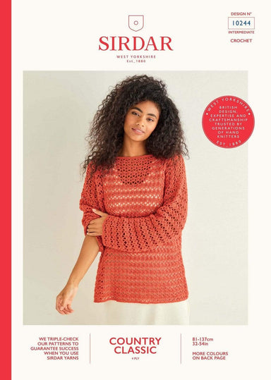 Sirdar Patterns Sirdar Country Classic 4 Ply - Sweater (10244) 5024723102440