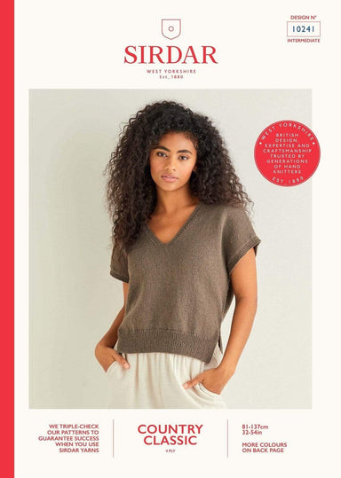Sirdar Patterns Sirdar Country Classic 4 Ply - V Neck Sweater (10241) 5024723102419