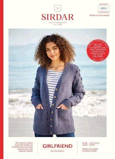 Sirdar Patterns Sirdar Girlfriend Cardigan with Bobble Sleeves (10051) 5024723100514