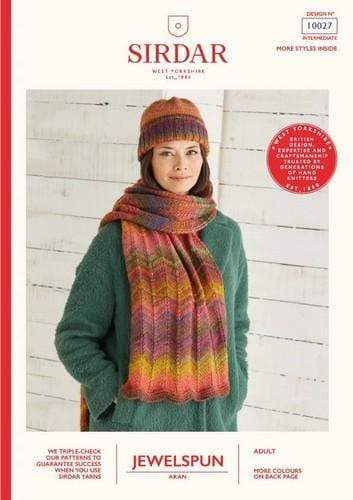 Sirdar Patterns Sirdar Jewelspun - Scarf & Hat (10027) 5024723100279