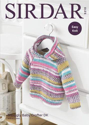 Sirdar Patterns Sirdar Snuggly Baby Crofter DK - Hooded Sweater (5210) 5024723952106