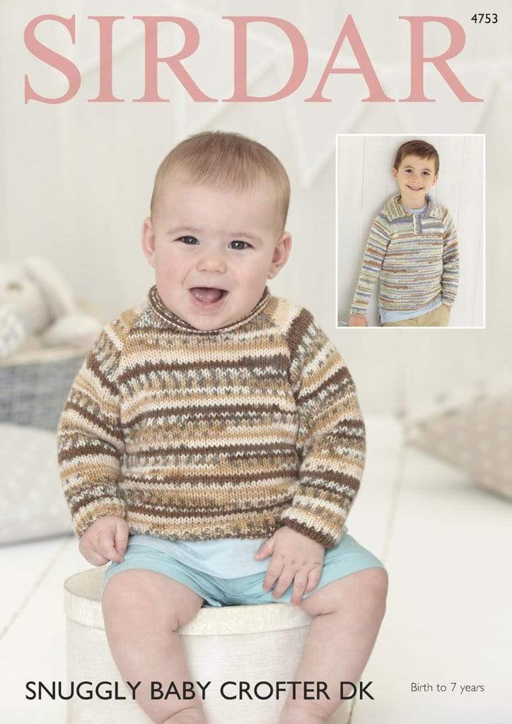 Sirdar Patterns Sirdar Snuggly Baby Crofter DK - Sweaters (4753) 5024723947539