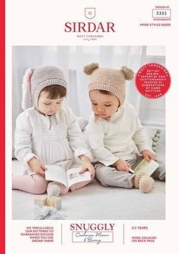 Sirdar Patterns Sirdar Snuggly Cashmere Merino & Bunny - Baby Hats & Bootees (5303) 5024723053032
