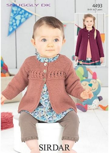 Sirdar Patterns Sirdar Snuggly DK - Baby Girl's and Girl's Cardigan and Coat (4493) 5024723944934