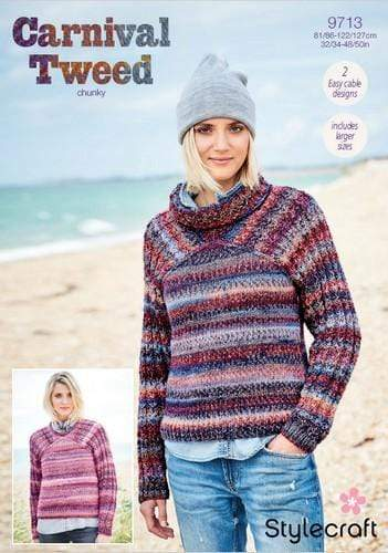 Stylecraft Patterns Stylecraft Carnival Tweed Chunky - Sweaters (9713) 5034533074080