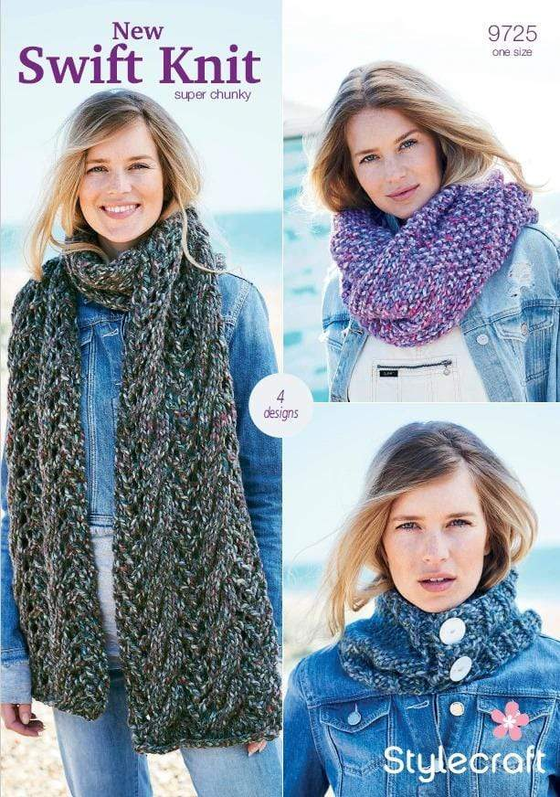 Stylecraft Patterns Stylecraft Swift Knit Super Chunky - Accessories (9725) 5034533074202
