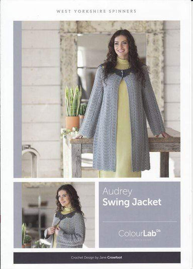West Yorkshire Spinners Patterns West Yorkshire Spinners ColourLab DK - Audrey Swing Jacket Pattern by Jane Crowfoot 5053682889765