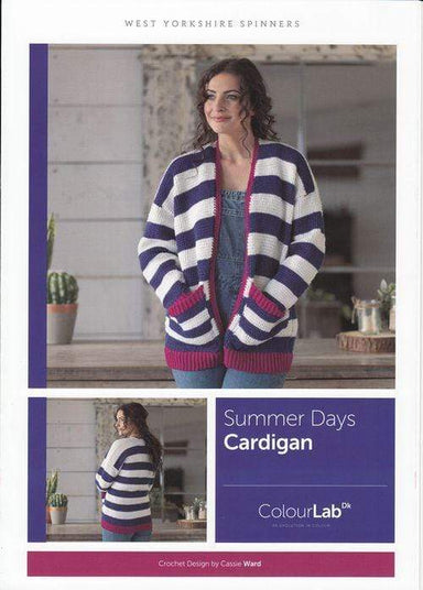 West Yorkshire Spinners Patterns West Yorkshire Spinners ColourLab DK - Summer Days Cardigan Pattern by Cassie Ward 5053682889710
