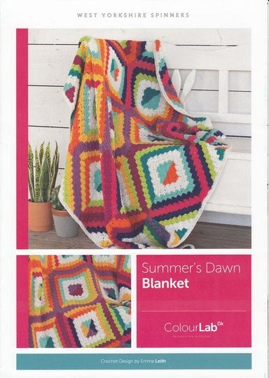 West Yorkshire Spinners Patterns West Yorkshire Spinners ColourLab DK - Summer's Dawn Blanket Pattern by Emma Leith 5053682889727