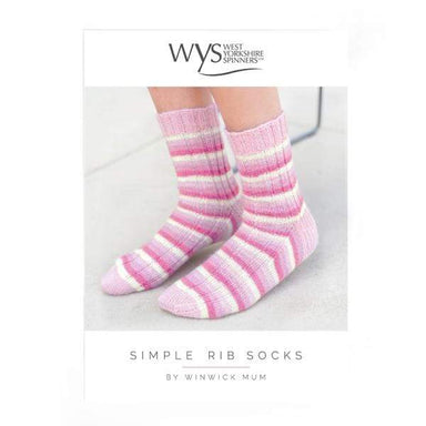 West Yorkshire Spinners Patterns West Yorkshire Spinners Signature 4 Ply - Simple Rib Sock Pattern by Winwick Mum 5053682569995