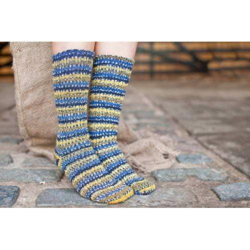 West Yorkshire Spinners Socks Bluefaced Leicester Country Sock Collection - Blue Tit